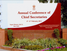 Annual Conference of Chief Secretaries 2011